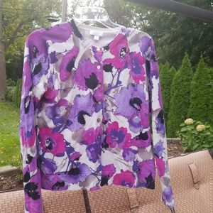 pretty floral cardigan sweater PS
